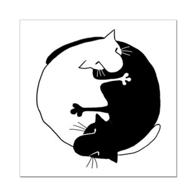 Наклейка (стикер)  Инь-Ян