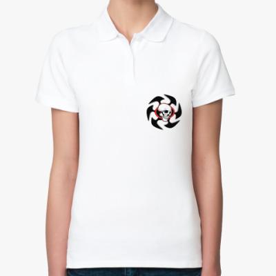 Женская рубашка поло  Череп