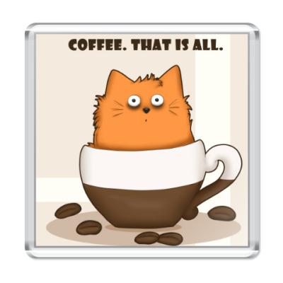 Магнит Кофейный кот