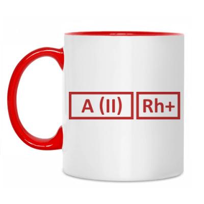 Кружка Группа крови 2 Rh+