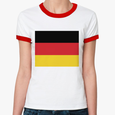 Женская футболка Ringer-T Флаг Германии