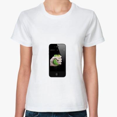 Классическая футболка iPhone Wylsacom (женская)