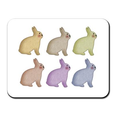 Коврик для мыши Кролики