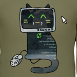 Кот программист делает сайт