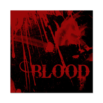 Наклейка (стикер) Blood