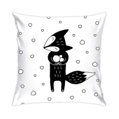 Подушка Лисенок и снегопад