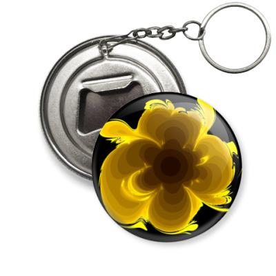 Брелок-открывашка цветок