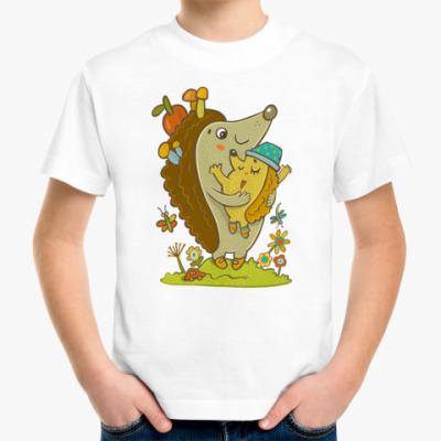 Детская футболка  Ежик и мама