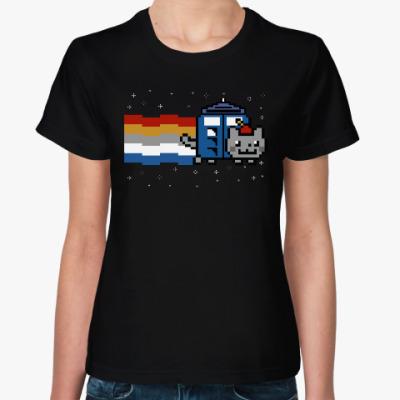 Женская футболка Доктор Нян (Nyan Cat)