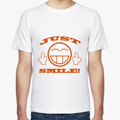Футболка Just smile