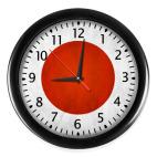 Настенные часы (с цифрами) Япония