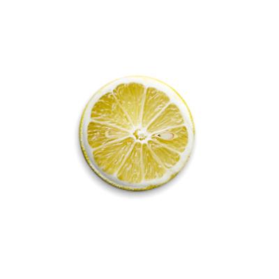 Значок 25мм «Лимон»