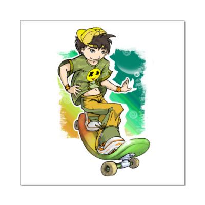 Наклейка (стикер) Скейтборд