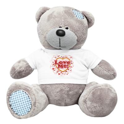 Плюшевый мишка Тедди Люби меня