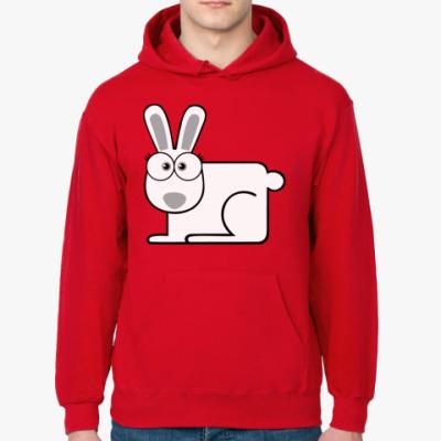 Толстовка худи Белый кролик