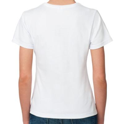 Mad Hatter Жен футболка (бел)