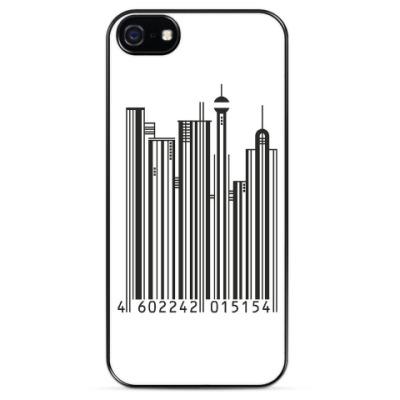 Чехол для iPhone Штрих-код-город