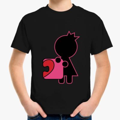 Детская футболка Парный дизайн для влюблённых