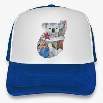 Кепка-тракер Милая коала акварель
