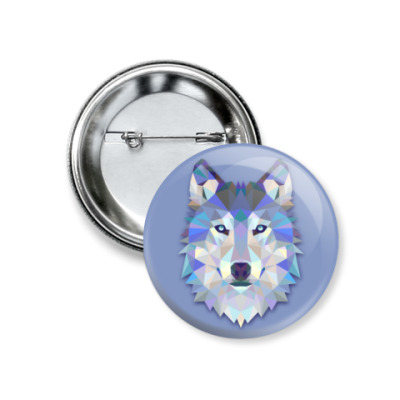 Значок 37мм Волк/wolf