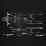 Схема USS Enterprise Star Trek