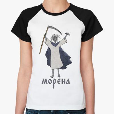 Женская футболка реглан Морена