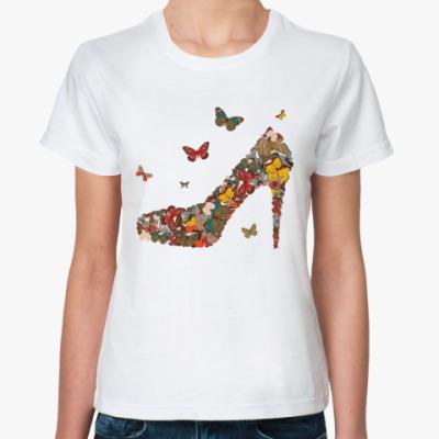 Классическая футболка  butterfly