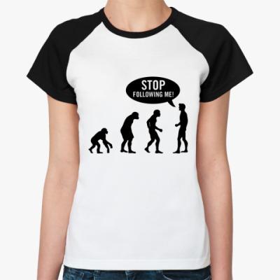 Женская футболка реглан Evolution