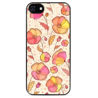 Чехол для iPhone  Розовые маки