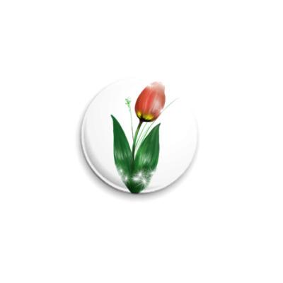 Значок 25мм Тюльпан