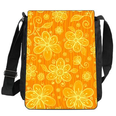 Сумка-планшет Апельсиновые ромашки