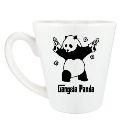 Чашка Латте Gangsta panda