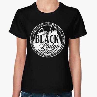 Женская футболка Твин Пикс. Чёрный Вигвам