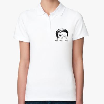 Женская рубашка поло  TROLL CHICK