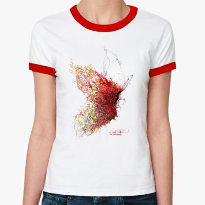 Женская футболка Ringer-T мотыль