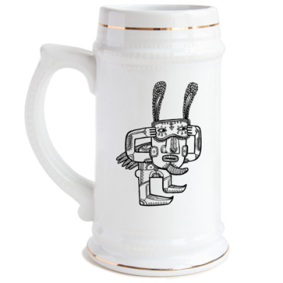 Пивная кружка Прикинься зайцем