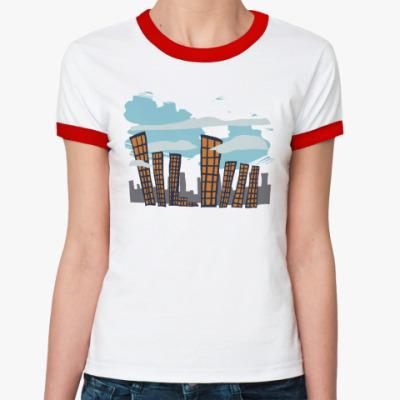 Женская футболка Ringer-T   City