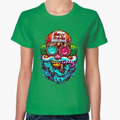 Женская футболка Santa Claus. Дед мороз.