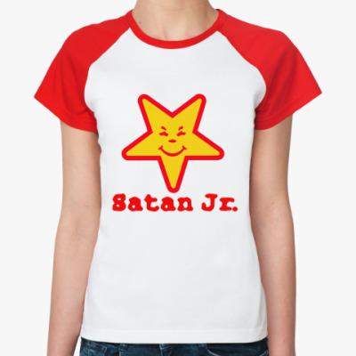 Женская футболка реглан сатана