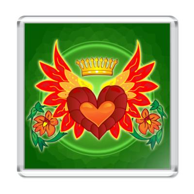 Магнит  Валентинка Сердце