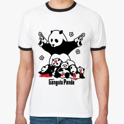 Футболка Ringer-T  Gangsta panda