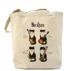 Холщовая сумка шоппер Котики, похожие на The Beatles