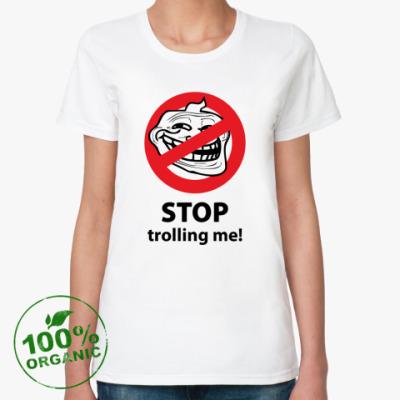 Женская футболка из органик-хлопка тролль