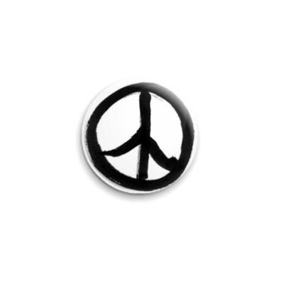 Значок 25мм  Peace sign