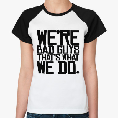 Женская футболка реглан Отряд самоубийц