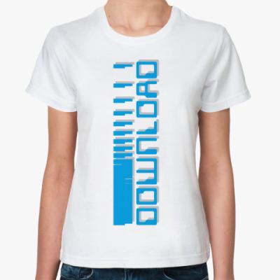 Классическая футболка  «DOWNLOAD»