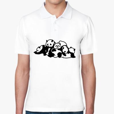 Рубашка поло Панды