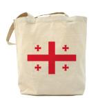 Холщовая сумка шоппер  'Грузинский флаг'