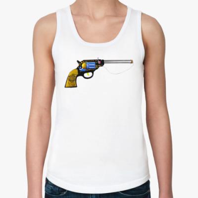 Женская майка  gun