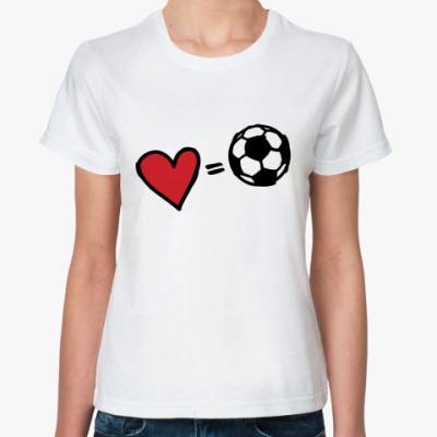 Классическая футболка Love equals football